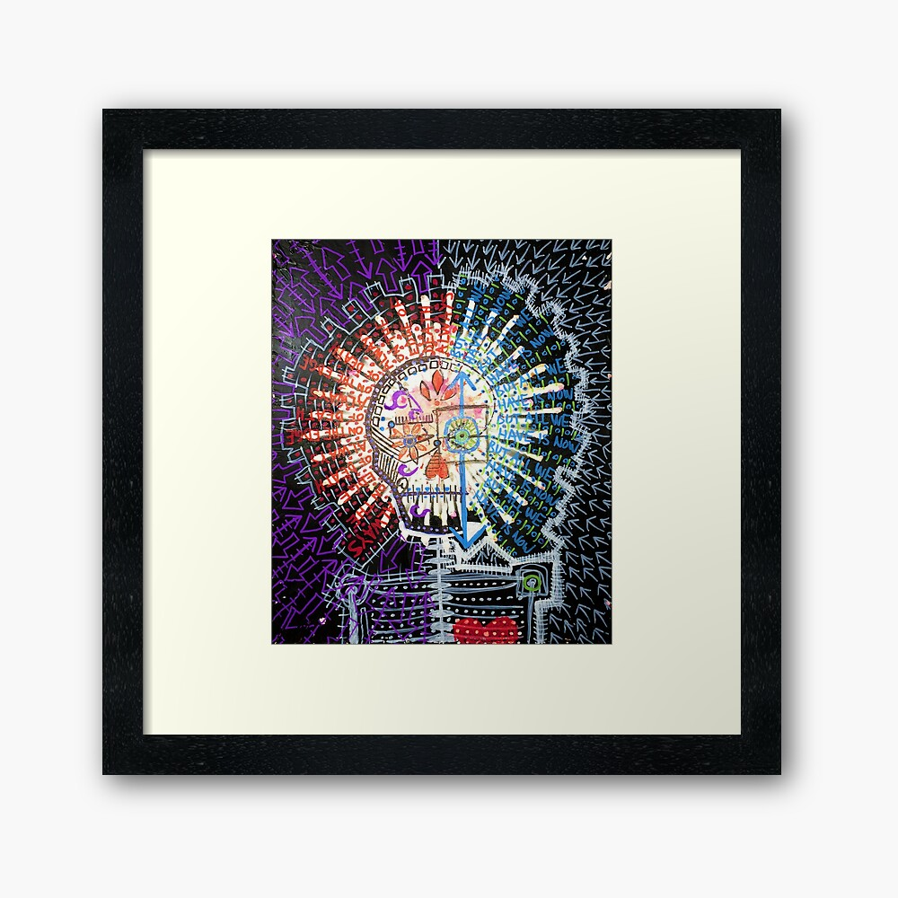 Always On The Edge Of Death, But All We Have Is Now Framed Art Print