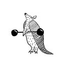 Weight Lifting Armadillo by MiaMeaDesign
