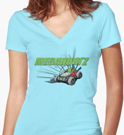MegaHurtz! Women's Fitted V-Neck T-Shirt