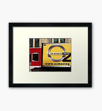 Oz Moving Company Framed Print