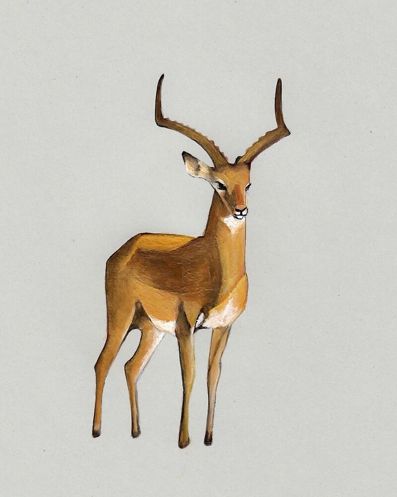 Ilustration art - Money antelope by Marikohandemade