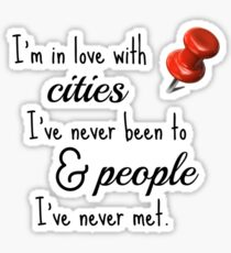 Paper Towns cities and people quote Sticker