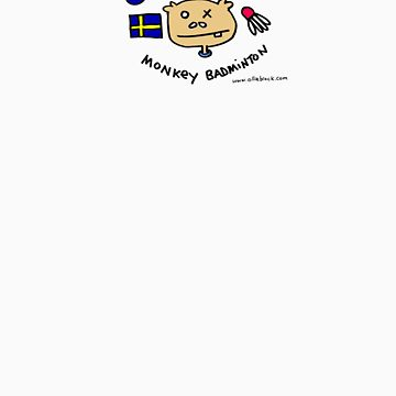 Swedish Monkey Badminton Team T Shirt by squeaktoy