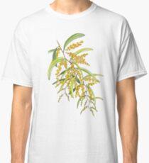 Australian Wattle Flower, Illustration Classic T-Shirt