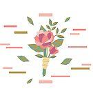 Geometric Wedding Boutonniere Flowers by carabara