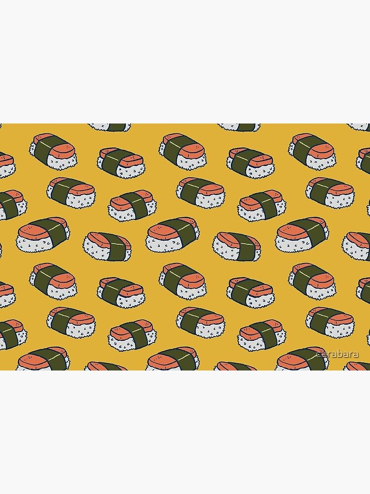 Spam Musubi Sushi Pattern by carabara