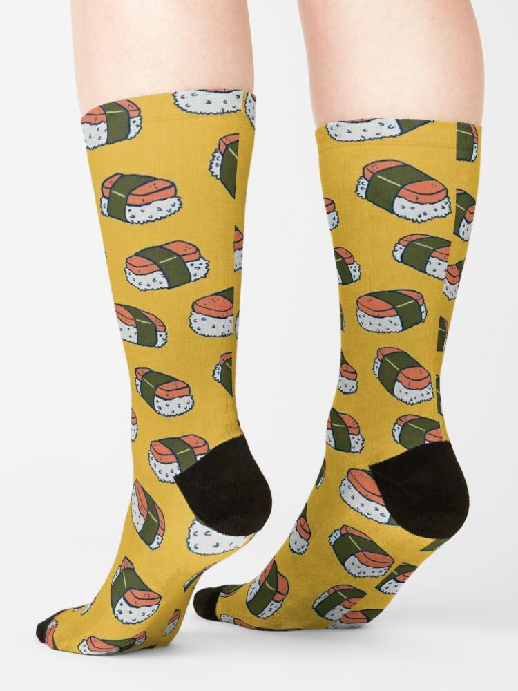 Alternate view of Spam Musubi Sushi Pattern Socks