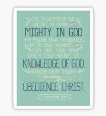 Obedience. Sticker