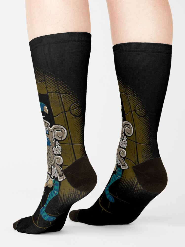 Alternate view of One of Us Always Lies - Labyrinth Door - Goblin - 80's Fantasy Socks