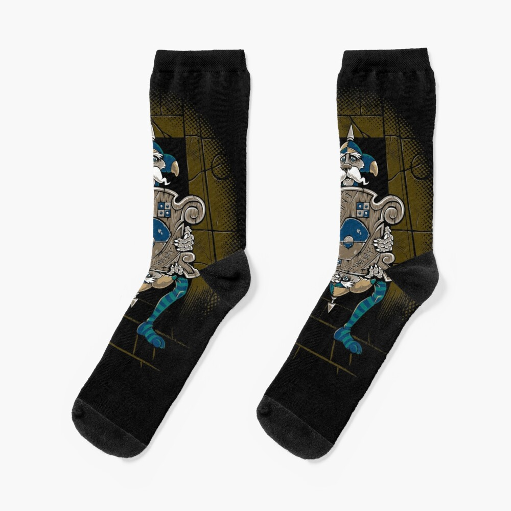 One of Us Always Lies - Labyrinth Door - Goblin - 80's Fantasy Socks