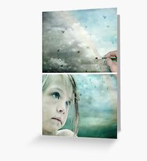 Eyes of Blue - Or Let me Paint your Grey Skies Blue Greeting Card