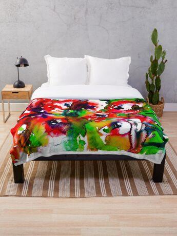 BAANTAL / Pollinate / Lust #2 Throw Blanket