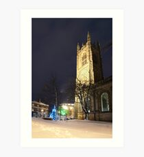 Derby Cathedral in Winter Art Print