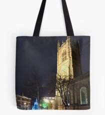 Derby Cathedral in Winter Tote Bag