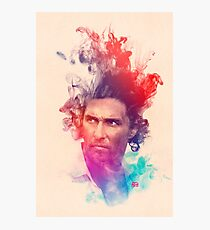 Matthew McConaughey Ink Watercolor Splash Portrait True Detective Photographic Print