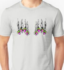 Ripping Monster Claws Demon Within Lime and Pink T-Shirt
