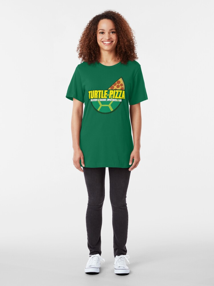 Alternate view of Turtle Pizza Slim Fit T-Shirt