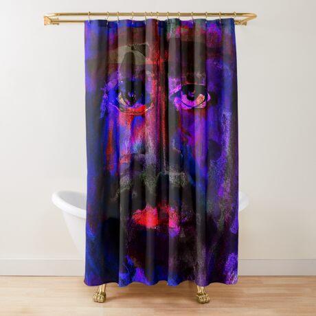 BAANTAL / Hominis / Faces #4 Shower Curtain