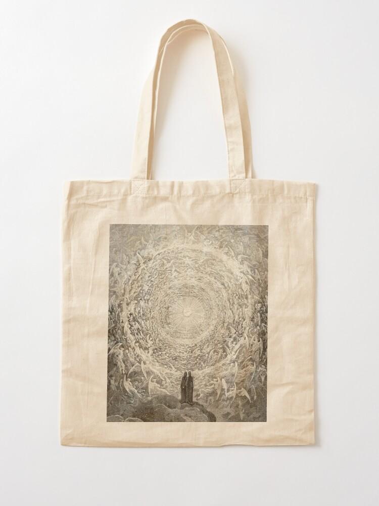 Alternate view of Dante, Heaven, Heavenly, The Divine Comedy, Gustave Doré, Highest, Heaven. Tote Bag