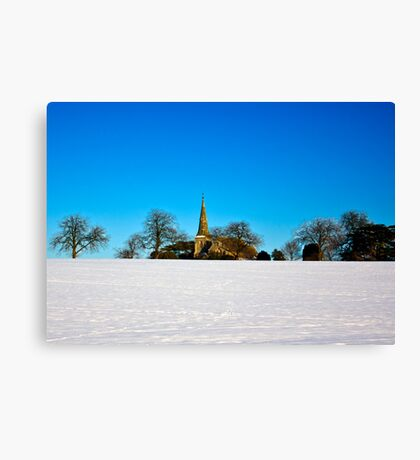 The Church on the Hill Canvas Print