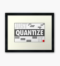 Just Quantize It Framed Print