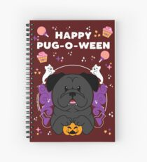Licorice the Black Pug Spiral Notebook