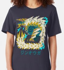 Monster Hunter World Iceborne Zinogre Kanji Icon Slim Fit T-Shirt