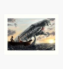 A Fishing Day Art Print
