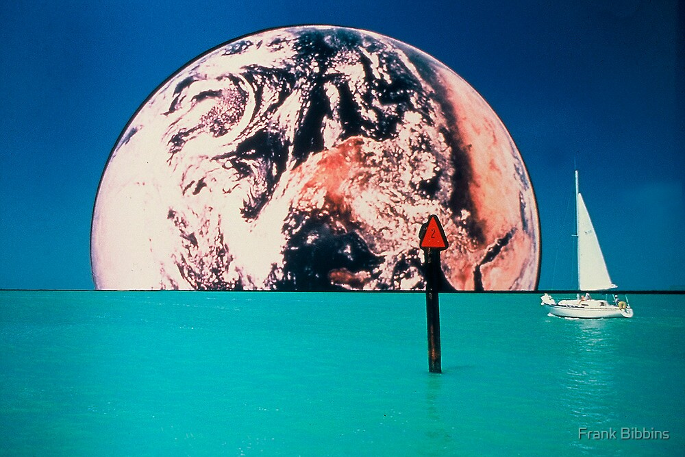 Earth Rise Over Venice Jetties by Frank Bibbins