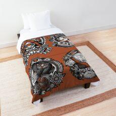 1920's Tattoo Style Borderlands 3 Squad Orange Comforter