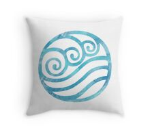 Watercolor Water Tribe Symbol Throw Pillow