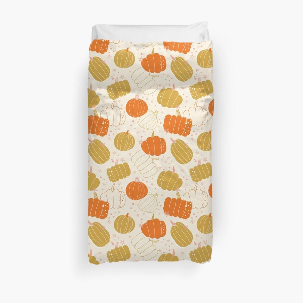 Halloween Cute Pumpkins, halloween gift for woman, halloween home deco, halloween pumpkins, halloween bright color, halloween gifts for woman Duvet Cover