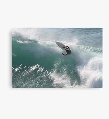 Surfing Jaws Canvas Print