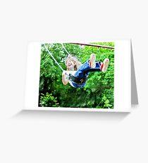 swinging Greeting Card