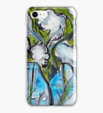 White Flowers in Glass Jars iPhone Case/Skin