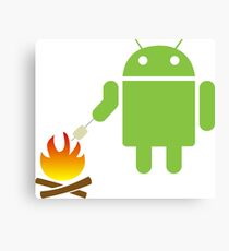 Android eats a marshmallow Canvas Print