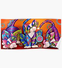 Party Animals Kitty Style Poster