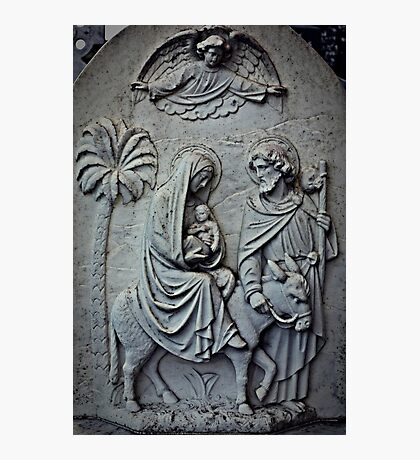 Carved Nativity Photographic Print