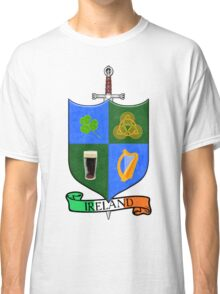 Coat Of Arms - Ireland - Shield and Sword Classic T-Shirt