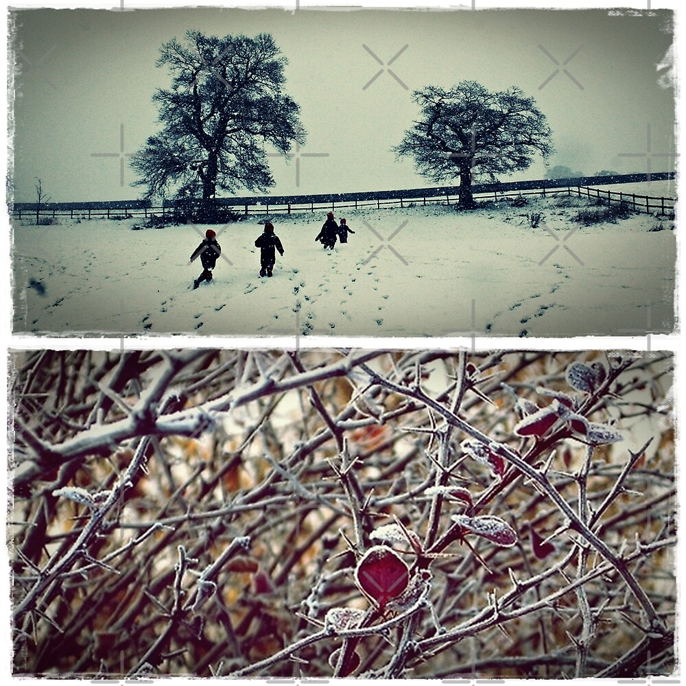 Goodbye England | covered in snow by Fiona Christensen