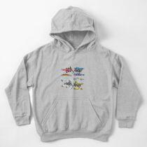 Formula1 Collage Cars Heaven Kids Pullover Hoodie