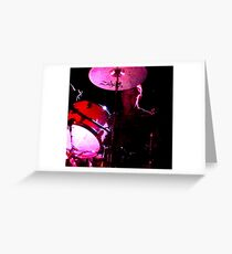 Cliffy on drums Greeting Card