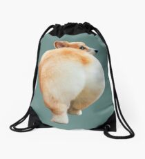 Corgi Butt Drawstring Bag