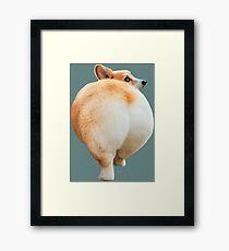Corgi Butt Framed Print