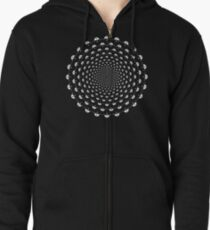 Stoic Stillness - Be Calm - Against The Chaos Zipped Hoodie