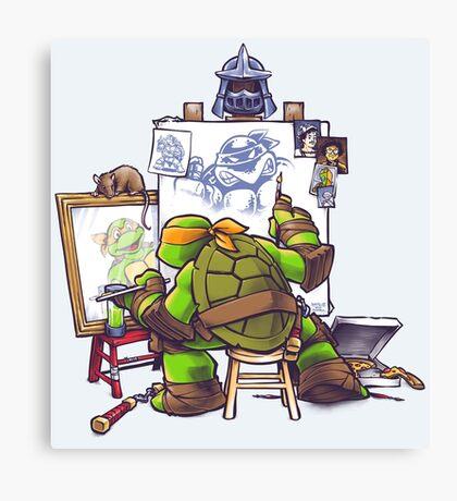 Ninja Rockwell Canvas Print