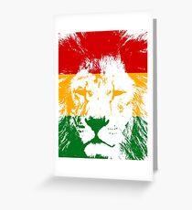 Löwe in Zion Grußkarte