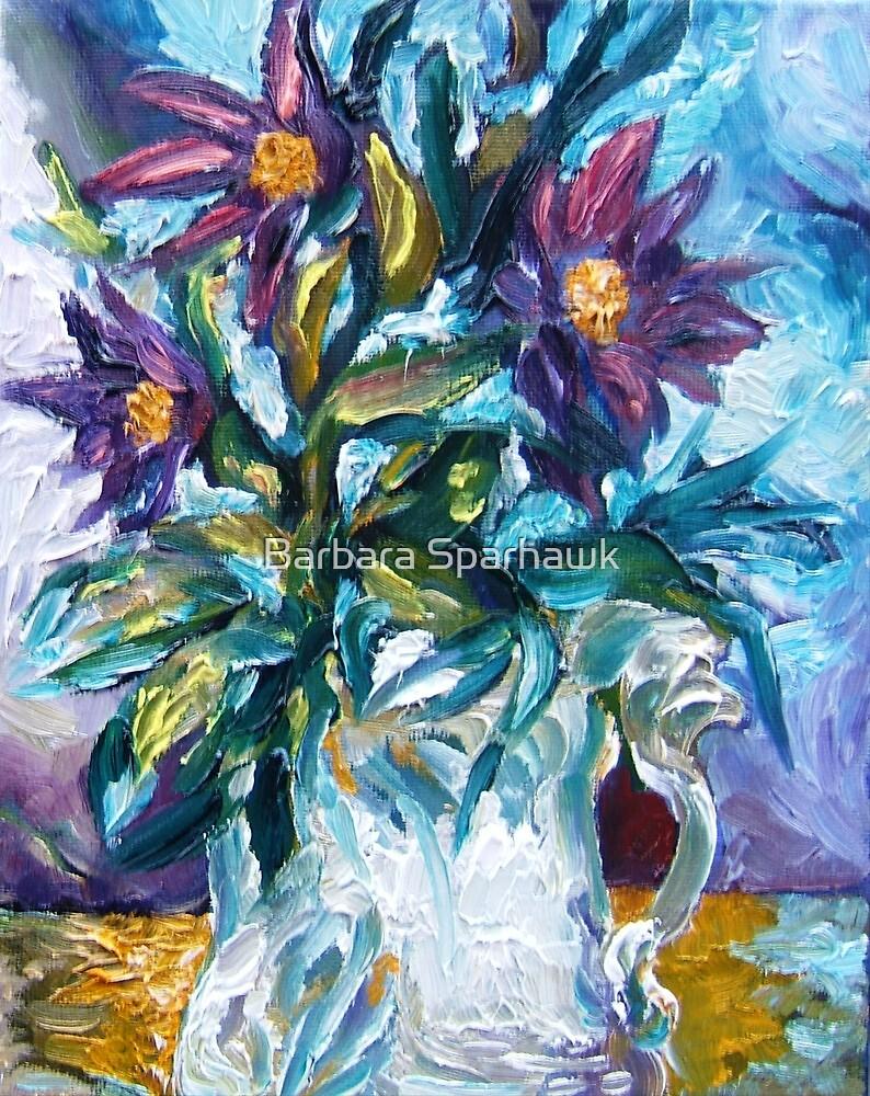 Flowers Against a Frozen Windowpane by Barbara Sparhawk