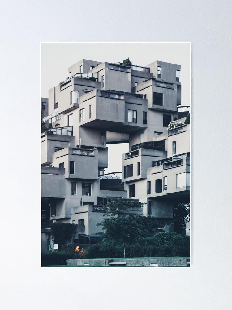 Alternate view of Habitat 67, Montreal Poster