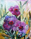Poppies In The Rain by Barbara Sparhawk